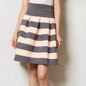 Girls from Savoy Striped Ponte Bell Mini Skirt